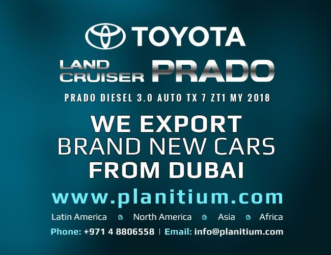 Export Brand New #ToyotaPrado 3.0 Diesel Auto Full Suspension SFX 1L MY 2018 T2 SUVs to Africa, North America and Latin American Countries from Dubai, UAE. #ToyotaPrado2018Export #CarExportCompanyDubai #ToyotaPrado2018Export