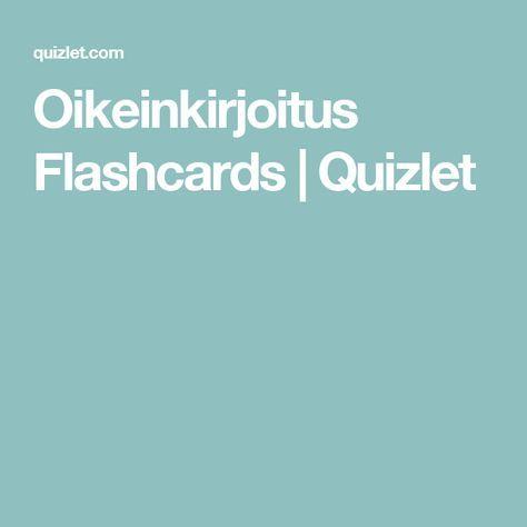 Oikeinkirjoitus Flashcards   Quizlet