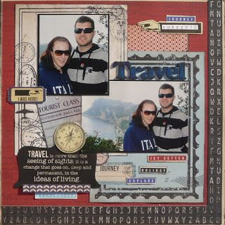Monica's Scrapbooking Corner: a2z scraplets TRAVEL layouts Kaisercraft Check-In Papers div Layouts