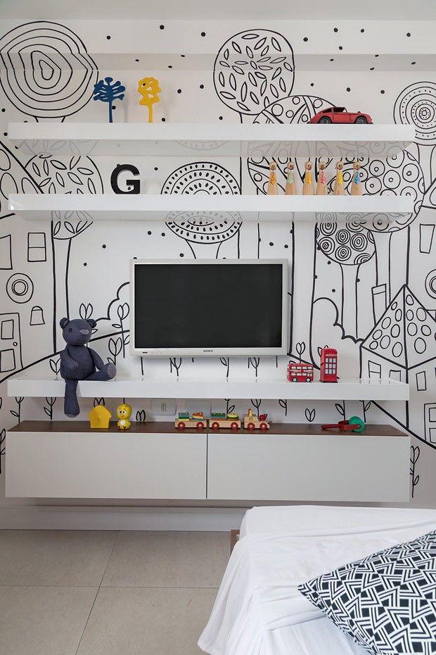 Estampa | O desenho inspirado em livros infantis foi executado pelo artista…