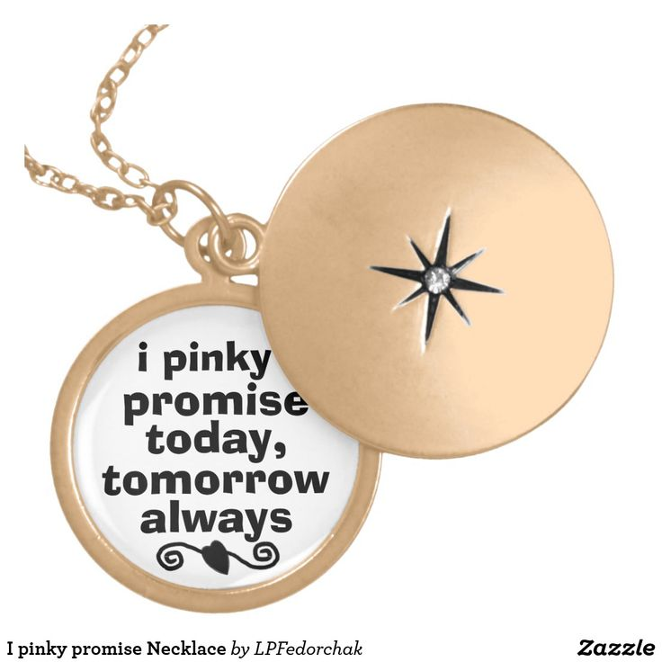 I Pinky Promise Necklace (customizable)