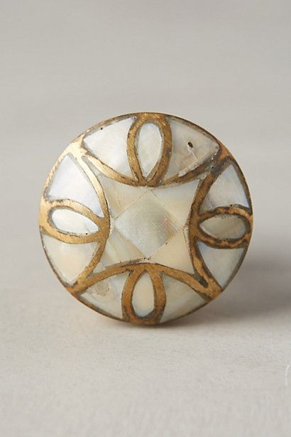 Mother-Of-Pearl Knob #anthropologie