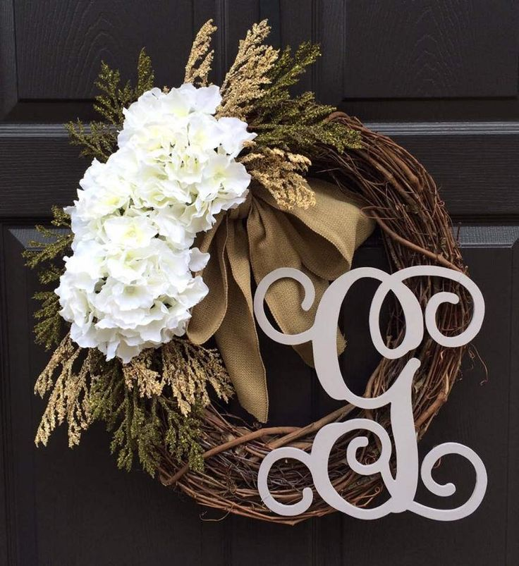 Easter Wreath / Spring Wreath / Front Door Wreath / Every Day Wreath / Initial Wreath / Wreath for front door / Monogram Wreath / Wreath by WeatheredFreeDesigns on Etsy https://www.etsy.com/listing/478672511/easter-wreath-spring-wreath-front-door