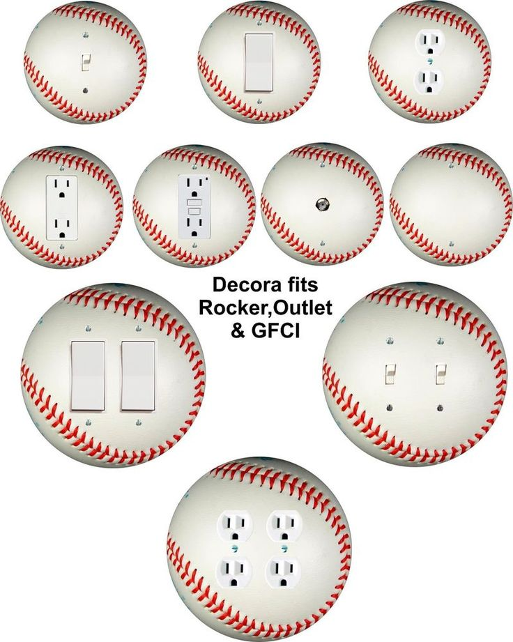 Best Coloriffic Baseball wall plate Toggle Light Switch Outlet Decora double cover