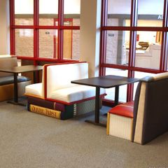 This company makes furniture for libraries, schools, etc., but I would love to find a way to use this or some of their other furniture in my book room.