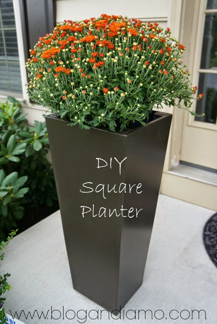tall square planters | a diy tale | andiamo