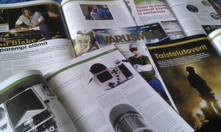 Vuosina 2009–2010 olin Varusmies-lehden päätoimittaja. Artikkeleiden aiheita olivat muun muassa koulutus, työ, musiikki, elokuvat ja kirjat.