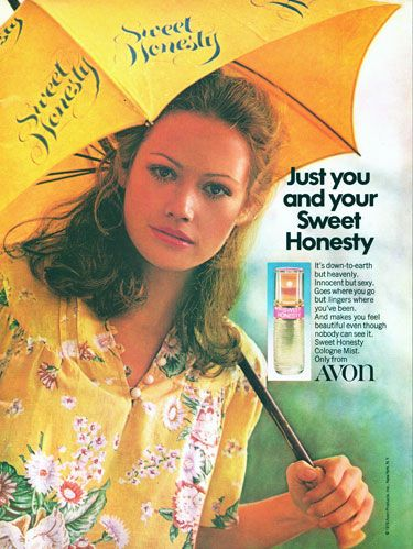 sweet honesty perfume ads | Found these lovely Avon advertisements in a couple of American Girl ...