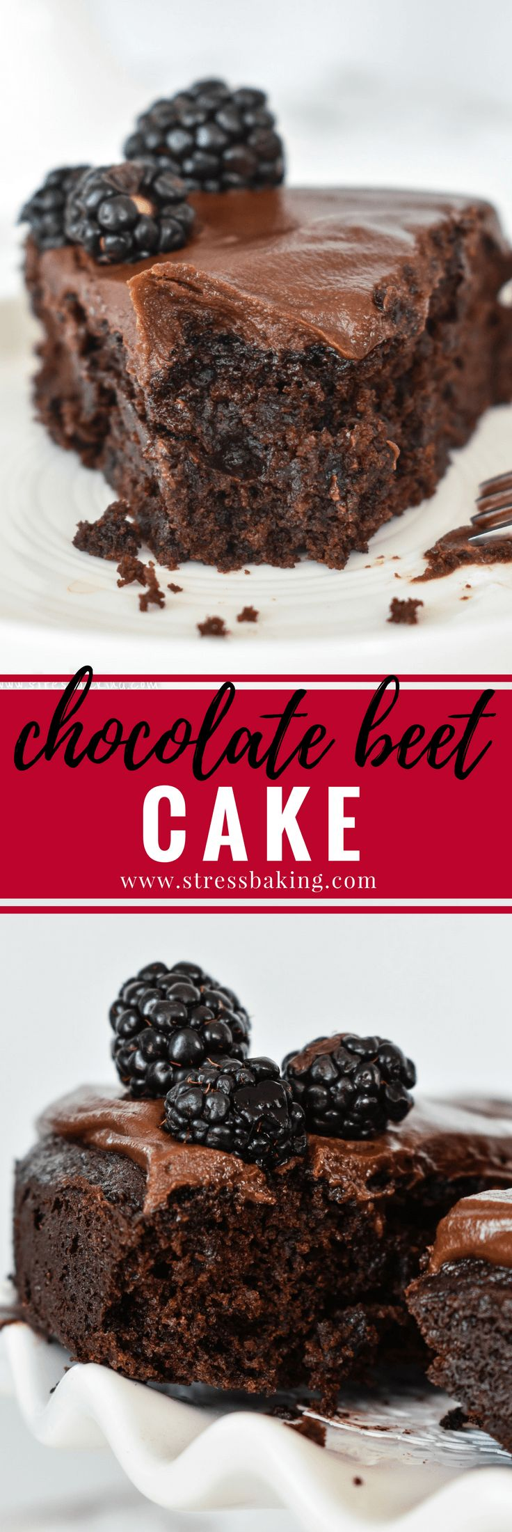 Chocolate Beet Cake: This dark chocolate cake with a moist and tender crumb includes a vegetable that no one would ever know is hidden inside: beets!