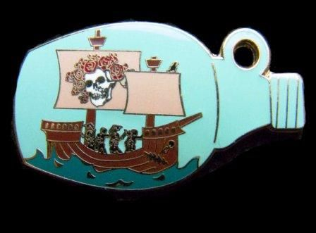 """Grateful Dead - Ship of Fools Hat Pin  New fan inspired Grateful Dead pin paying tribute to the song """"Ship of Fools"""". It measures 1"""" x 1.75"""" and has two clutches with rubber backings. Any deadhead would love to have this pin in their collection. #sunshinedaydream #hippieshop"""