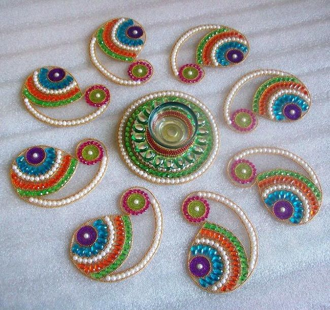 Portable Designer Readymade Rangoli designs