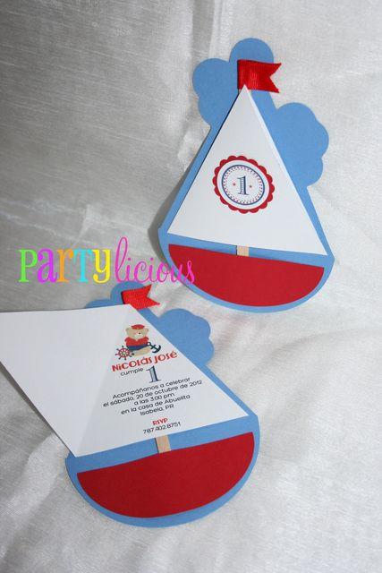 {Little Sailor Bear 1st Birthday} | CatchMyParty.com