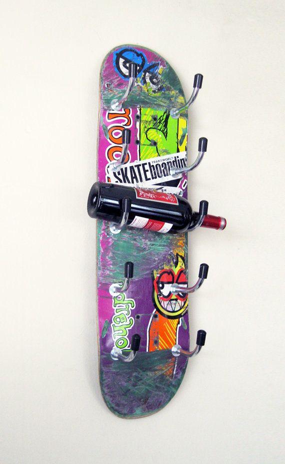Skateboard-Wine Rack hausgemachte Weinregal von PatrickHoesterey