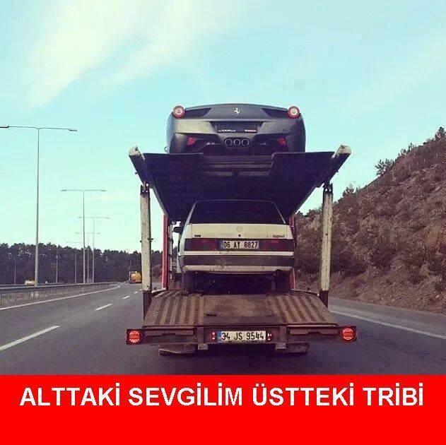 Alttaki sevgilim üstteki tribi. :)  #mizah #matrak #komik #espri