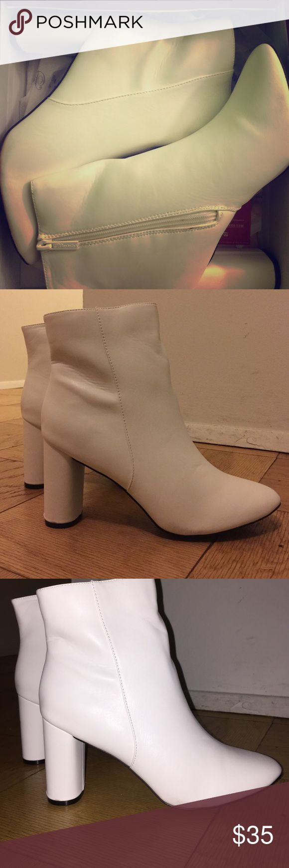 Breckelle's White Ankle Booties Adorable white ankle booties that can be worn with Bohemian flair or on a night out on the town ! Also, never worn! Breckelles Shoes Ankle Boots & Booties