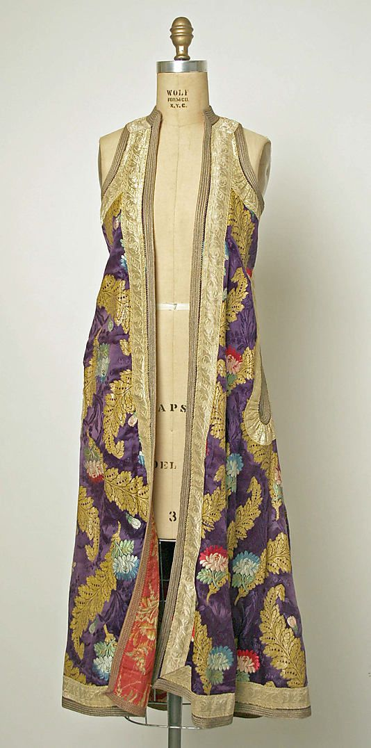 Coat. European, Eastern. silk. circa 20th century.