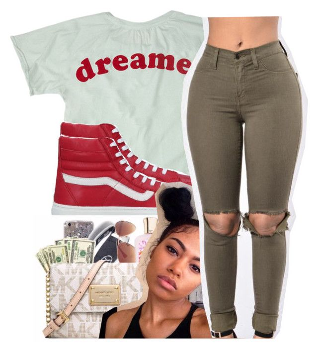 """i be that pretty mf'er. "" by glowithbria ❤ liked on Polyvore featuring Vans"