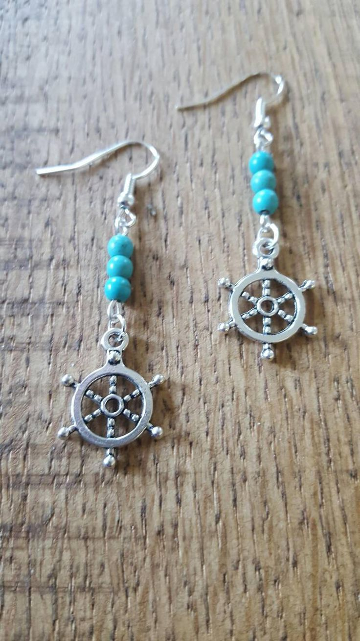 Nautical earrings, Nautical earrings, Turquoise earrings, turquoise jewelry, gift for her, birthday gift, seaside earrings, sealife earrings https://www.etsy.com/listing/524104658/nautical-earrings-nautical-earrings?utm_campaign=crowdfire&utm_content=crowdfire&utm_medium=social&utm_source=pinterest