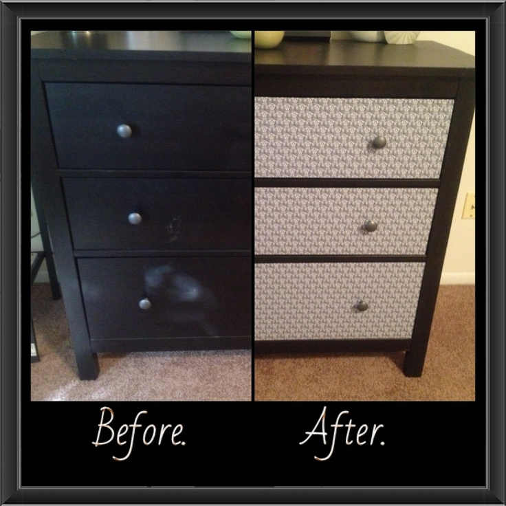 covering furniture with contact paper. i covered the drawers with shelf paper to cover covering furniture contact
