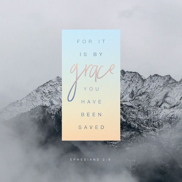 """God saved you by his grace when you believed. And you can't take credit for this; it is a gift from God."" ‭‭Ephesians‬ ‭2:8‬ ‭NLT‬‬"