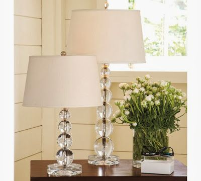 Decor Look Alikes | Pottery Barn Stacked Crystal Table Lamp $249 each vs $296.70 for set of two @ Lulu & Georgia