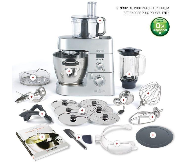 Je vais faire un nouveau chapitre sur mon site, avec le matériel de ma cuisine, que j'étofferais au fil du temps, aujourd'hui je vais commencer par le cooking chef. Robot de cuisine, de patisserie de marque KENWOOD, robot cuiseur à induction disposant...