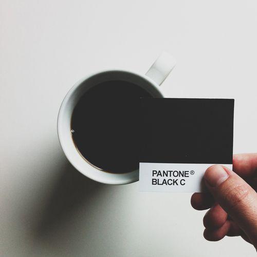 black coffee.