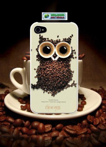 - - Buy World for Iphone4s Iphone4 Owls Coffee Cup Aluminum Hard Case High Quality White Black Cofee with Iphone 4gs 4g Screen Protector 1 From 1 Back