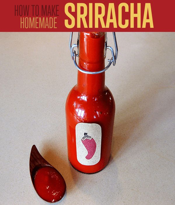 DIY Sriracha sauce recipes using chilis. How to make hot sauce using this homemade hot sauce recipe.