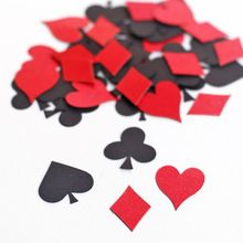 Poker Confetti - Playing Card Suit - Hearts - Diamonds - Clubs - Spades - Game Night - Alice in Wonderland party decoration(China (Mainland))