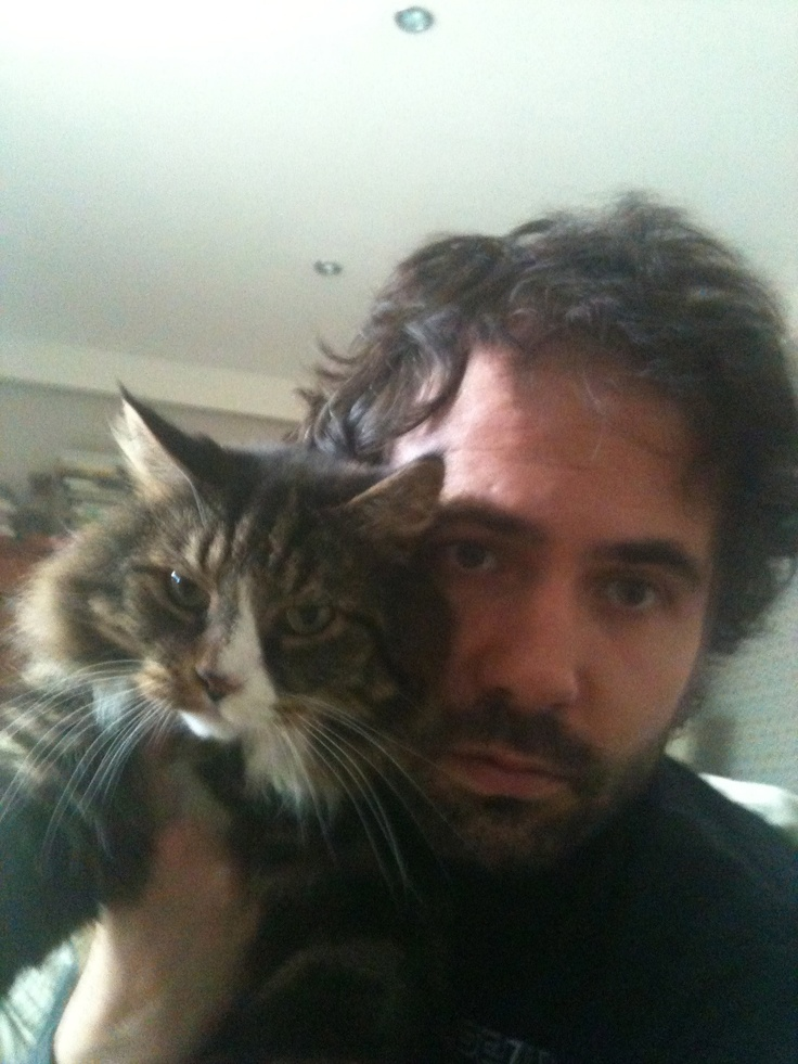 Me reluctantly posing for a photo with Ralph, after being nagged by him about it for several hours.
