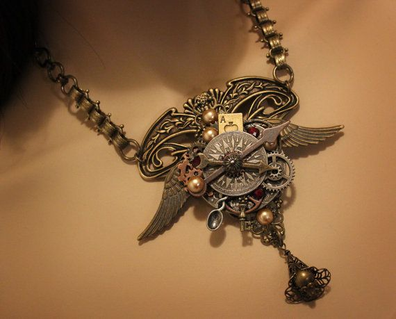 Steampunk Jewelry Steampunk Necklace by AngelaVenableArt on Etsy