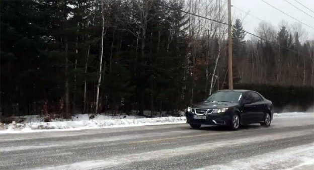 Saab 9-3 AWD on Icy road http://www.saabplanet.com/saab-9-3-awd-on-icy-road/