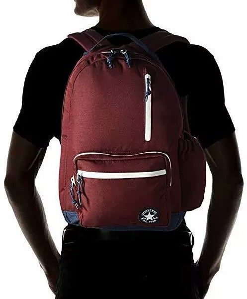 Converse All Star Go Backpack Burgundy Navy White NWT  Converse  Backpack   mens   771a4f73c9ab0