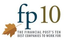 The Ten Best Companies to Work For competition is organized by the editors of Canada's Top 100 Employers. This special designation recognizes fast-growing companies in Canada that offer tremendous career advancement opportunities together with leading-edge employee perks and benefits. The Financial Post is a media partner on this list. www.canadastop100.com/fp10/