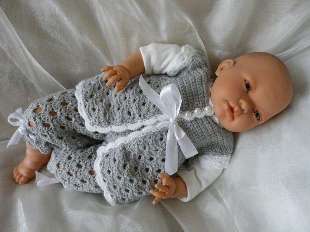 Setjes - Gehaakt Mouwloos Baby Pakje Dinky 0 - 9 mnd - Een uniek product van KnitsforKids op DaWanda