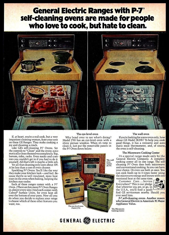 1973 General Electric P 7 Self Cleaning Ovens House Appliances Vintage Print Ad Vintage Kitchen Appliances Vintage Appliances Vintage Ads