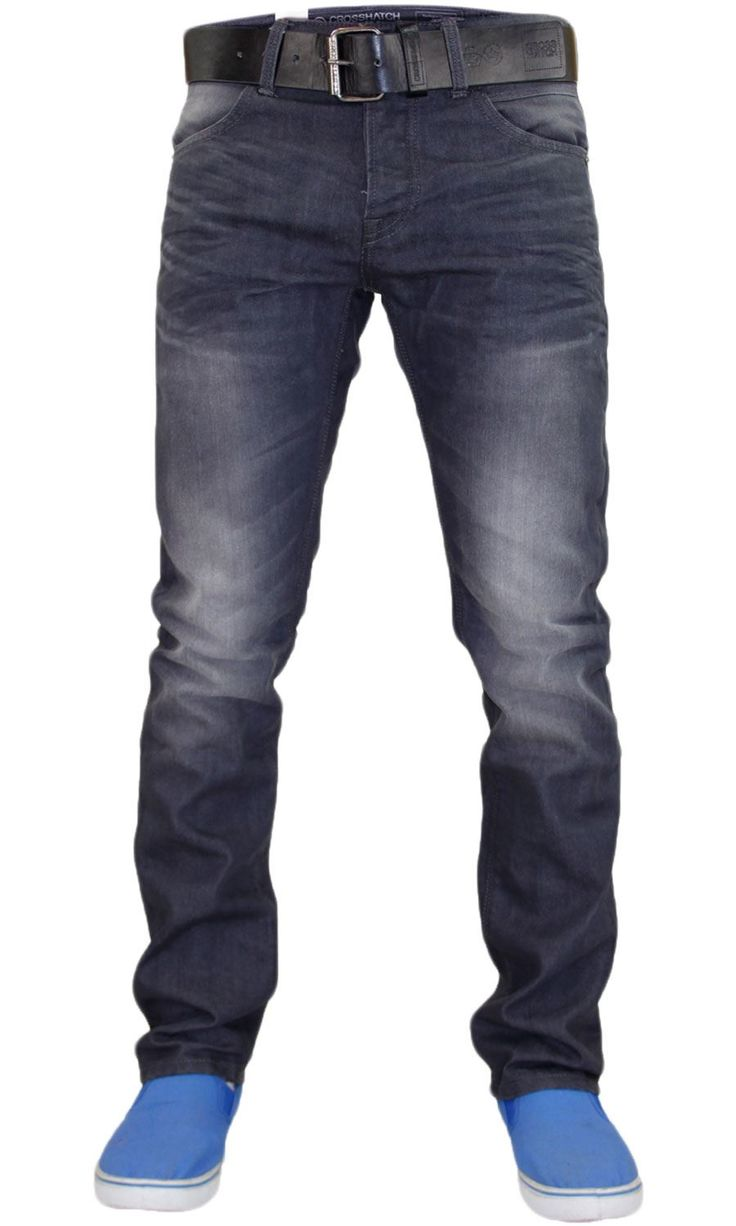 This is Crosshatch Brand Specially washed coated Denim Jeans. These are suitable for all occasions manufactured with fine medium weight coated denim washed soft fabric to give extra comfort. Modern straight leg cut and finely detailed Denim. Its slim fit cut sits nicely with your body. This urban look denim is made in basic five pocket Western style  It comes with Crosshatch brand quality assurance.