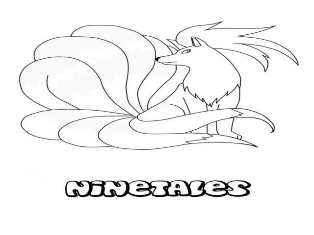 Ninetails Pokemon Coloring Pages