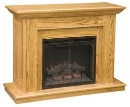 Amish Outlet Store Valley Fireplace In Oak Home Sweet