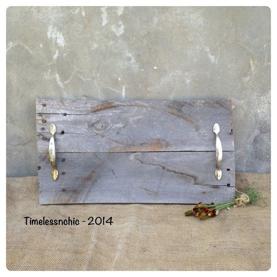Wooden Tray  Wood Tray  Pallet Wood  Rustic Home by TimelessNchic, $29.95