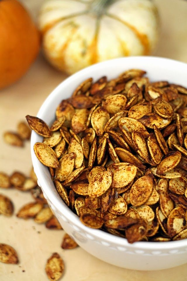 Chili Lime Roasted Pumpkin Seeds from dontmissdairy.com