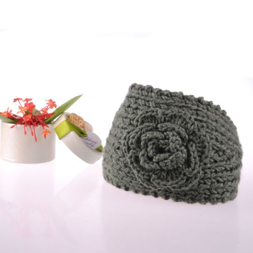 Unique Crochet Hair Styles : Crochet Hair Band 2012 Knitted Flower Button Headband HOT UNIQUE ...
