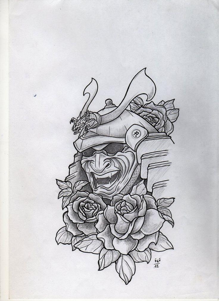 Unique Samurai Mask Tattoo Ideas On Pinterest Japanese Mask - Best traditional samurai tattoo designs meaning men women