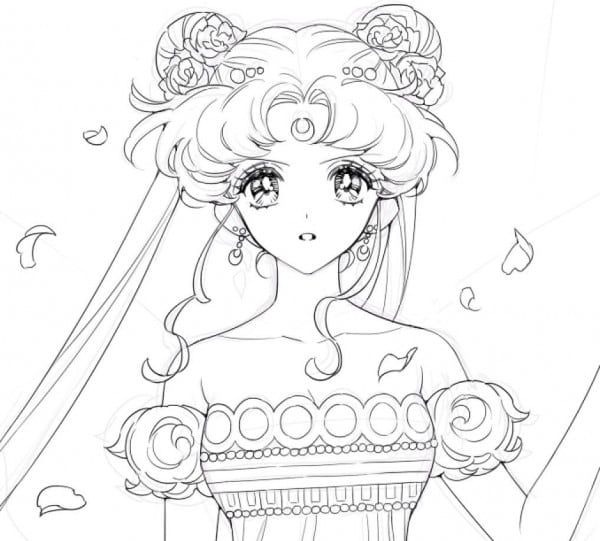 Sailor moon and the sailor scouts, free coloring pages | Coloring ... | 541x600