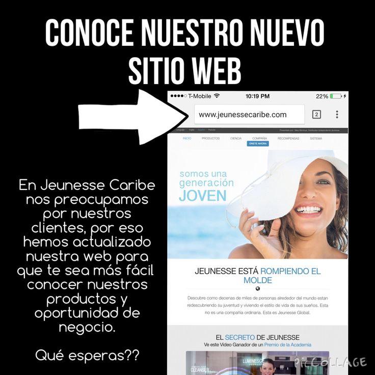 Conoce nuestro nuevo sitio web WWW.JEUNESSECARIBE.COM