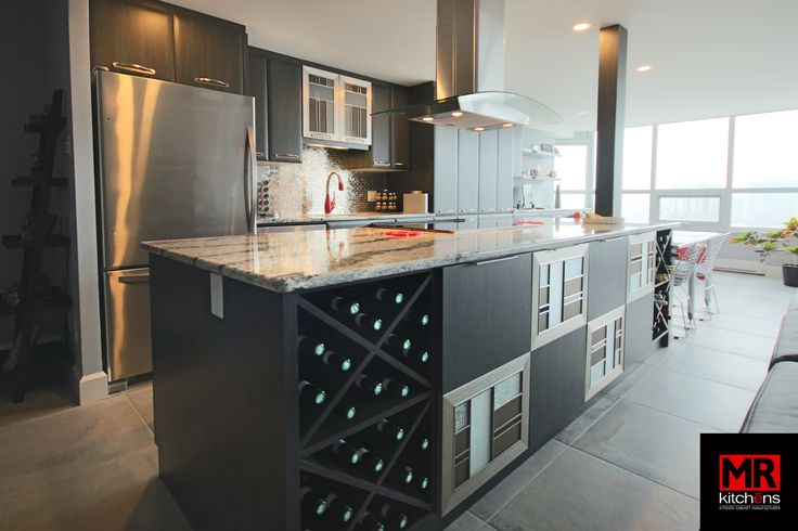Modern and functional.  www.mrkitchens.ca
