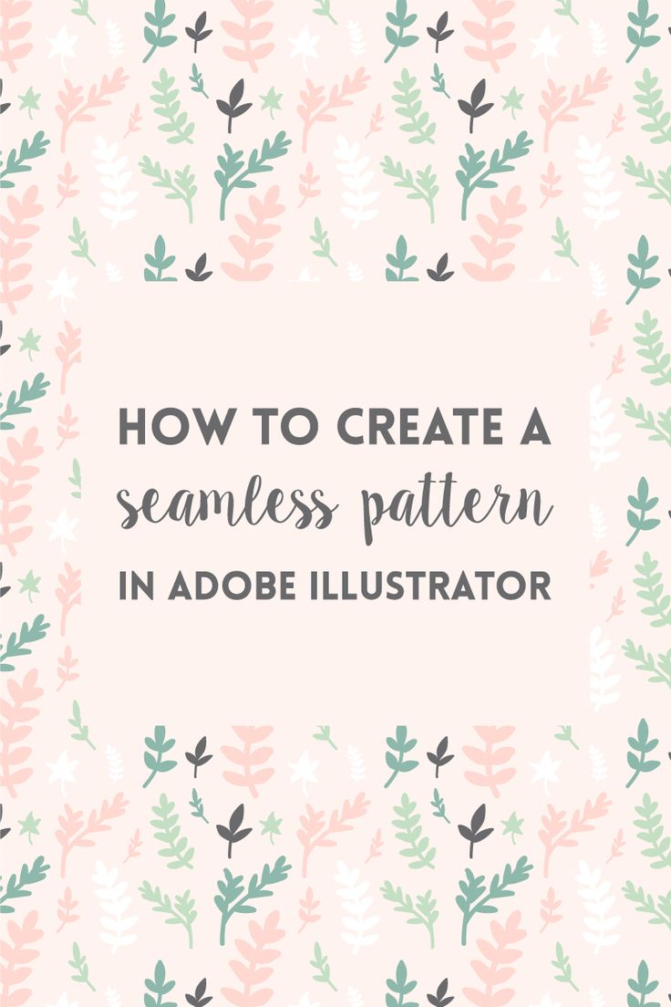 How to create a seamless pattern in Illustrator