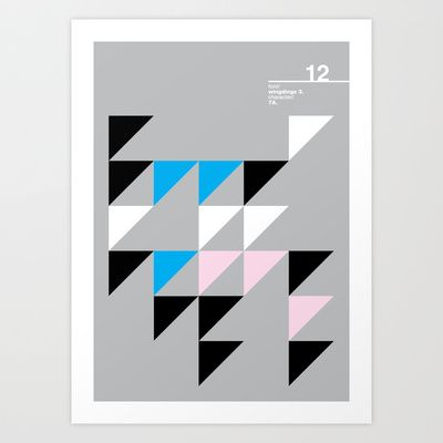 12_wingdings3_7a Art Print by Iris & Floss - $18.00