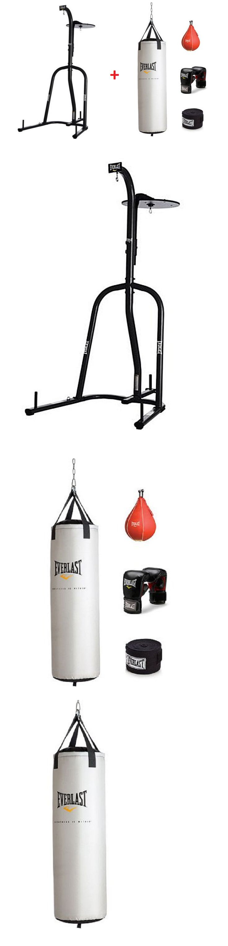 Bag Stands Platforms and Accs 179785: Dual Station Heavy Bag Stand With 70 Lb Punching Bag Kit Boxing Mma Workout Gym -> BUY IT NOW ONLY: $225.99 on eBay!